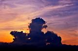 6.14----西の空の日没時