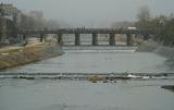 16---雪の鴨川