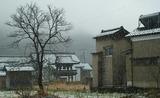 11---雪の降る今庄の町