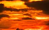 11----雲間の夕焼け