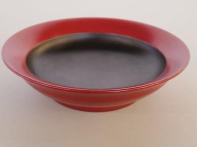 蒔地6寸鉢(赤)横