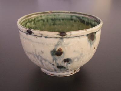 緑彩碗 (2)