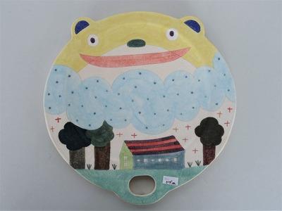 №18ピザ皿(くま)
