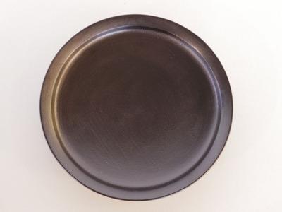 蒔地6寸浅鉢(黒)