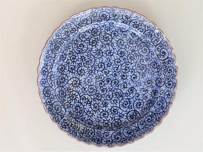 6蛸唐草文薄ダミミート皿¥40,000