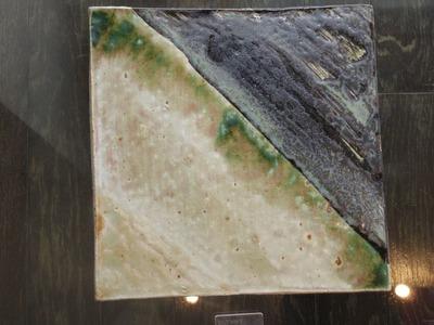 黒緑彩陶板