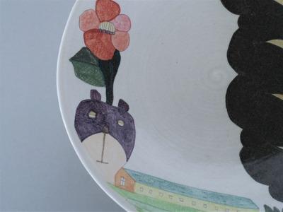 №2カレー皿(くま・木)アップ