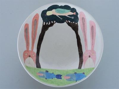 №2カレー皿(うさぎ)