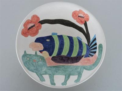№2カレー皿(ねこ)