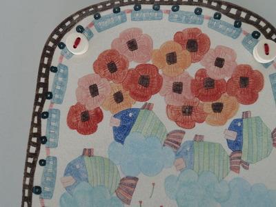 №6板皿(ひよこ・さかな・花)花アップ