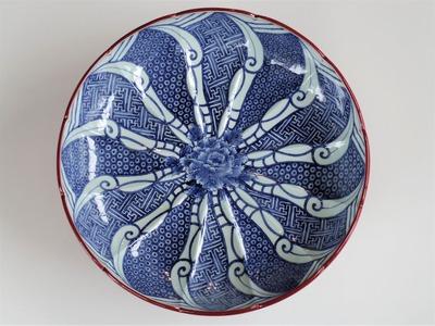 51赤うるし塗祥瑞文高台鉢¥2,200,000