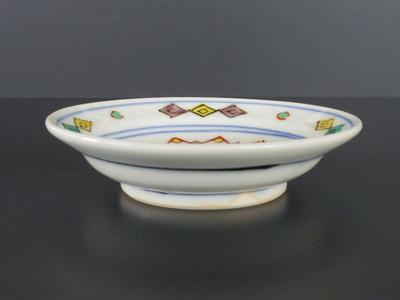 80 色絵菊花文小皿(3,5寸) 横