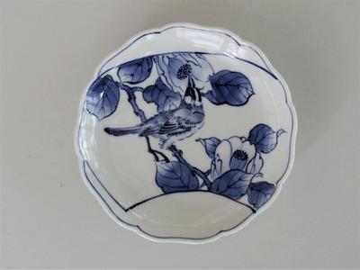 18 椿鳥文皿 ¥8,400