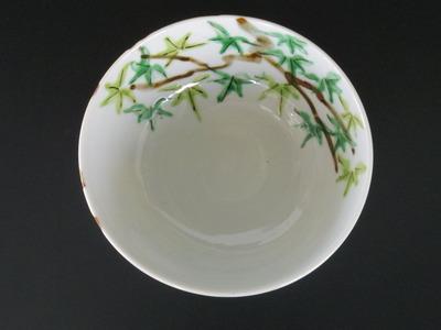 9 色絵楓文浅鉢