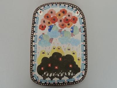 №6板皿(ひよこ・さかな・花)