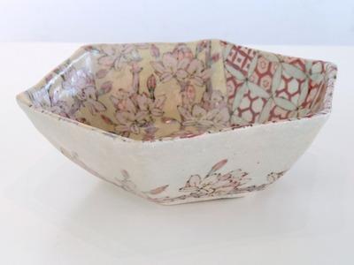 鉢 赤七宝枝桜(横)