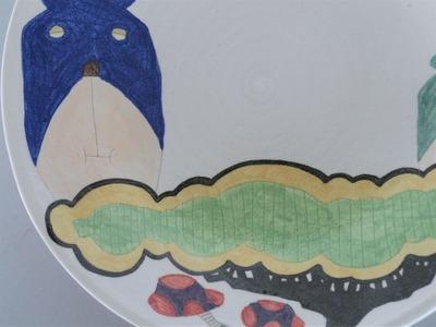 №2カレー皿(くま・電車)アップ