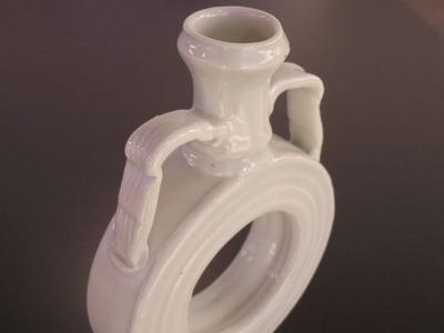 白磁環花器(横)