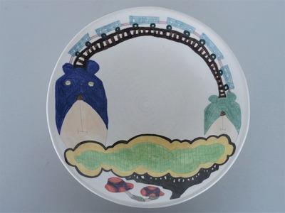 №2カレー皿(くま・電車)