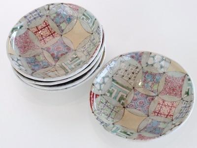 皿 七宝古紋