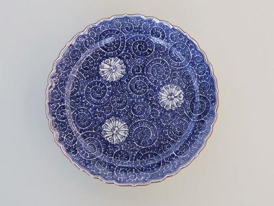 蛸唐草文ミート皿