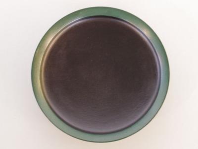 蒔地6寸浅鉢(緑)