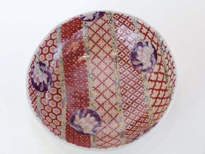 鉢 円桜(赤)