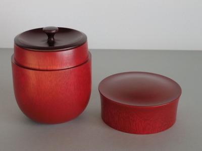 81茶筒(赤・大)