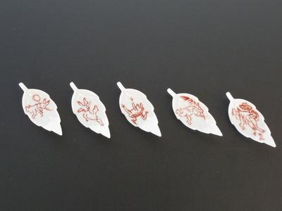 箸置(赤絵)