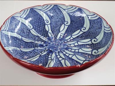 51赤うるし塗祥瑞文高台鉢¥2,200,000 (3)