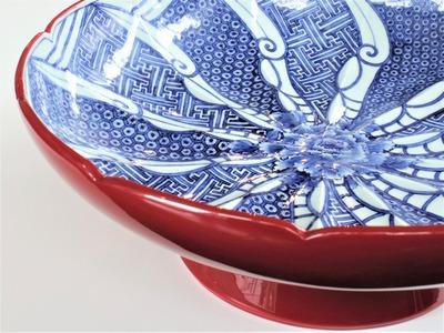 51赤うるし塗祥瑞文高台鉢¥2,200,000 (2)
