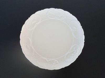 松竹梅図7寸皿