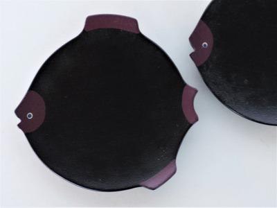 奥の お魚豆皿(紫) (2)