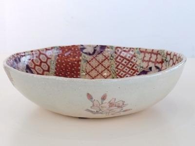 鉢 円桜(赤)(横)