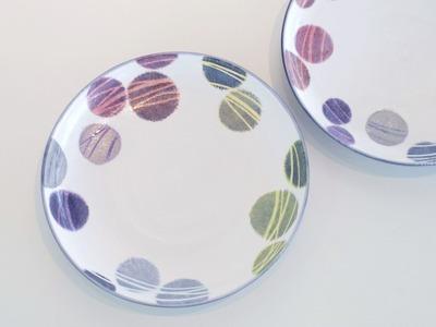 色絵銀彩皿