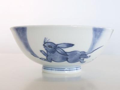 うさぎ茶漬碗 表