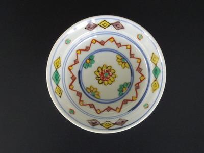 80 色絵菊花文小皿(3,5寸)