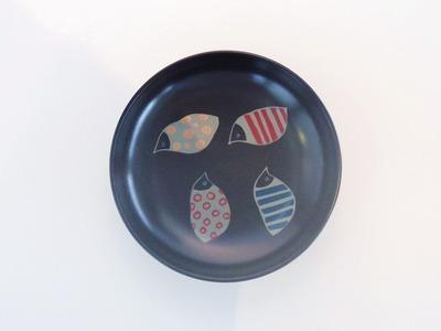 とり(黒) 皿