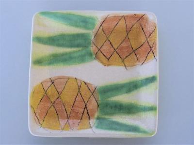 四角皿 パイナップル