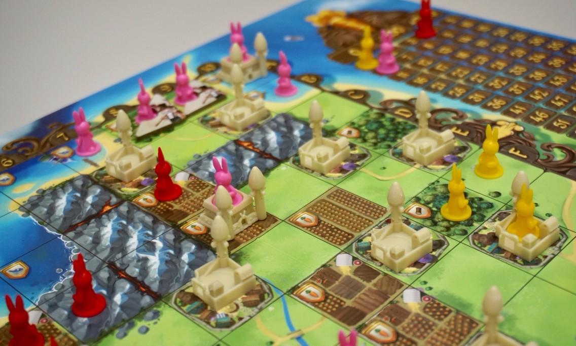 バニーキングダム:ゲーム終了時の盤面