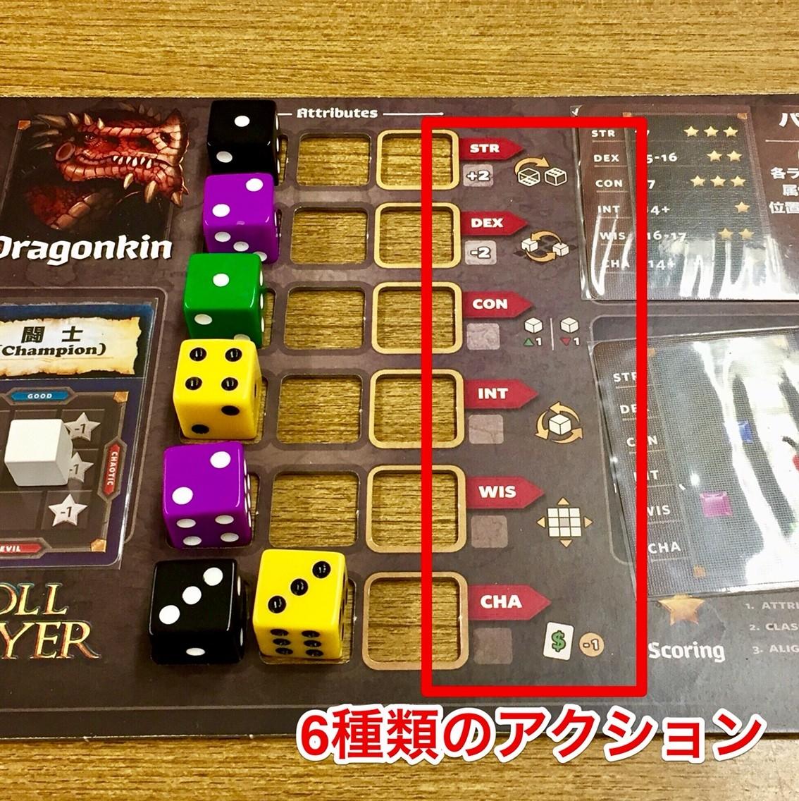 ゲーム紹介『ロールプレイヤー(Roll Player)』:ダイスフェーズ