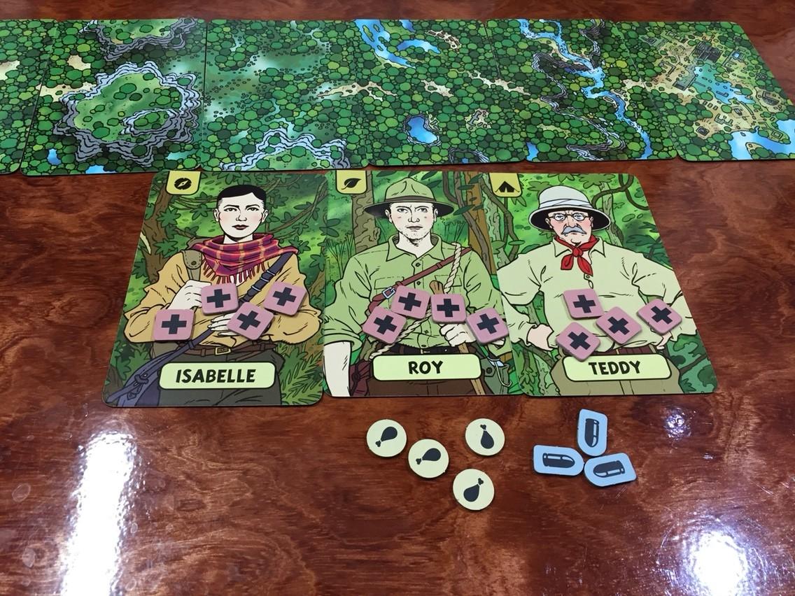 ロスト・エクスペディション(The Lost Expedition):ゲームの準備