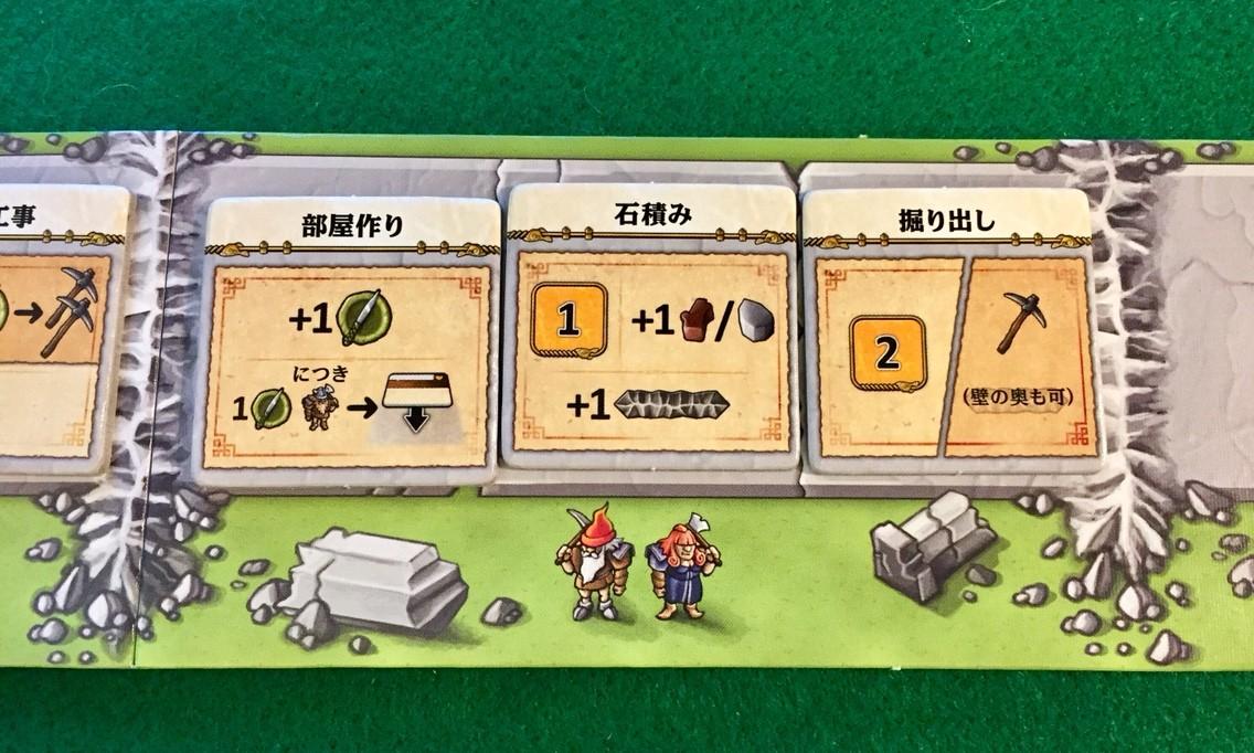 ゲーム紹介『カヴェルナ:洞窟対決 (Caverna: Cave vs Cave)1~3ラウンドで使用できるようになるタイル