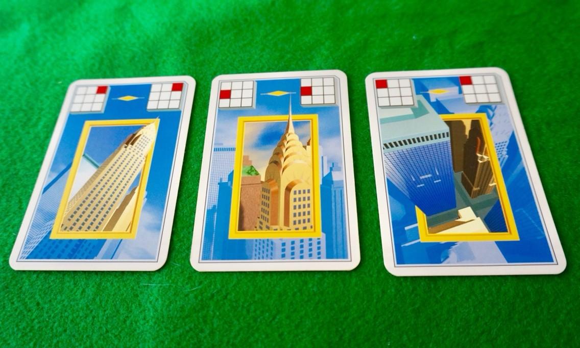 マンハッタン(Manhattan):手札カードの様子