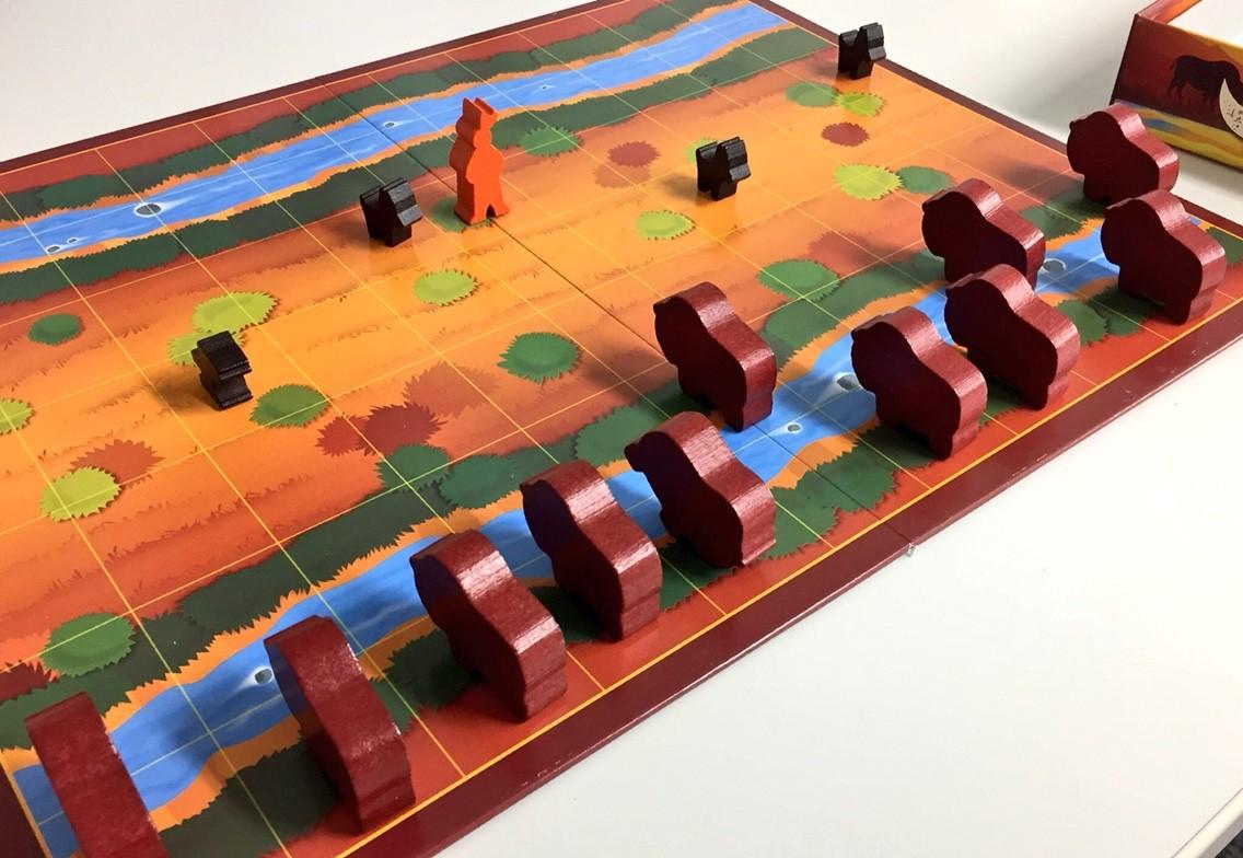 ゲーム紹介『バイソン将棋』:盤面の様子