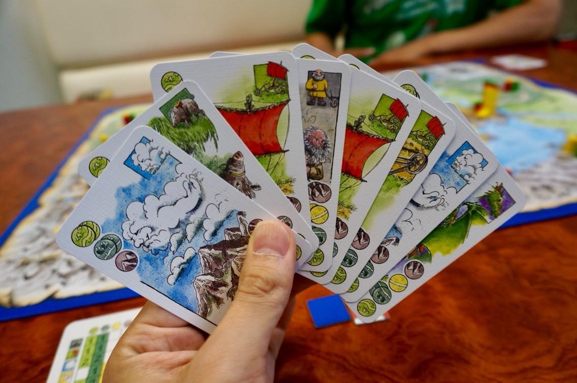 ゲーム紹介『エルフェンランド(Elfenland)』:手札の使用