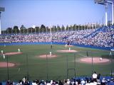 青空の下で野球は楽しい