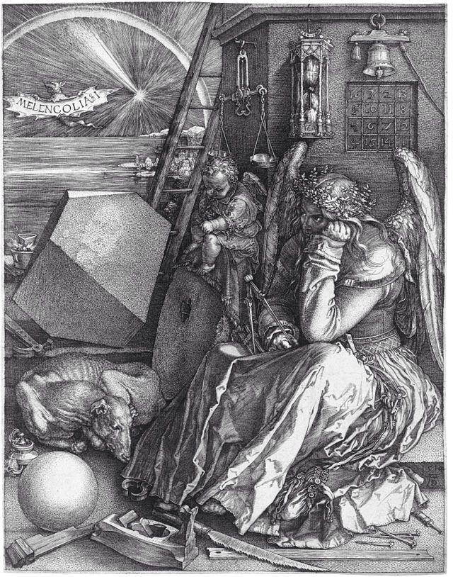 天使の絵画メランコリア