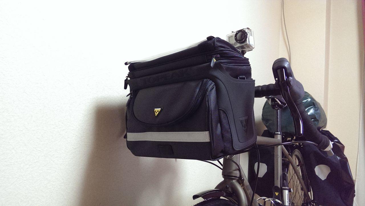 自転車の 自転車 フロント カメラバッグ : 装着車の場合、フロントバッグ ...