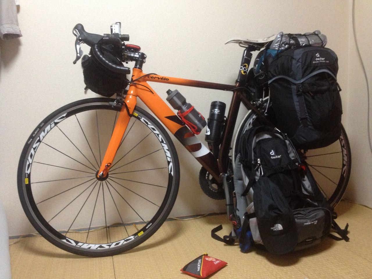 自転車の 自転車 旅 クロス ロード : 四国自転車お遍路準備編 リア ...